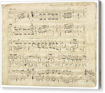 Chopin Music Notes Canvas Print by Celestial Images