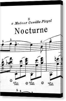 Chopin Nocturne Part 2 Canvas Print