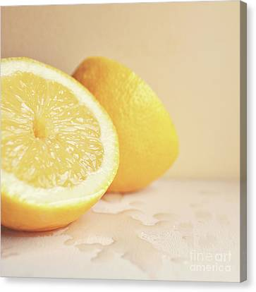 Canvas Print featuring the photograph Chopped Lemon by Lyn Randle