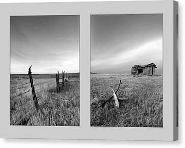 Choteau Diptych Canvas Print by Leland D Howard