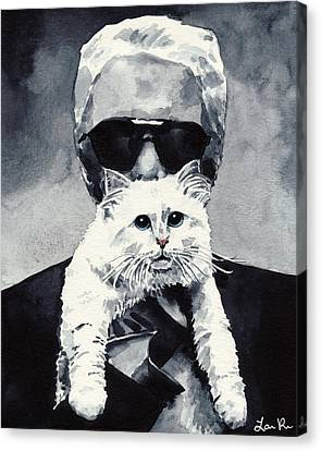 Choupette Cat And Karl Lagerfeld Canvas Print