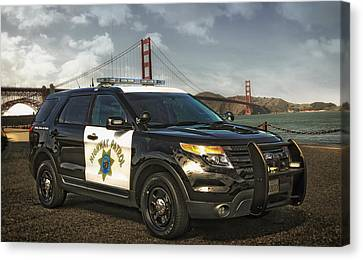 Chp Police Interceptor Utility Vehicle Canvas Print by Mountain Dreams