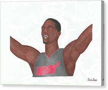 Chris Bosh Canvas Print by Toni Jaso