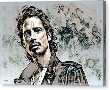 Chris Cornell Illustration  Canvas Print by Scott Wallace