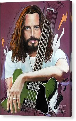 Alternative Music Canvas Print - Chris Cornell by Melanie D