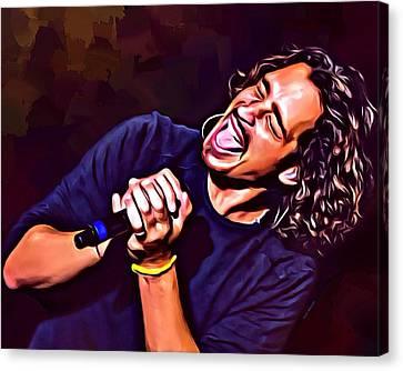 Chris Cornell Canvas Print by Scott Wallace