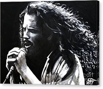 Chris Cornell Canvas Print by Tom Carlton