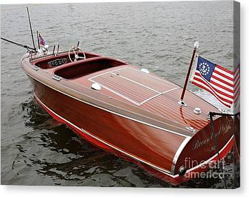 Chris Craft Barrel Back Canvas Print by Neil Zimmerman