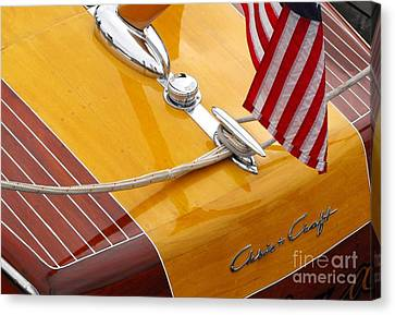 Wooden Boat Canvas Print - Chris Craft Custom by Neil Zimmerman