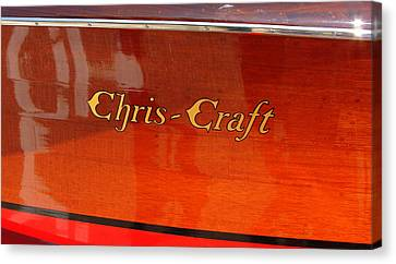 Chris Craft Logo Canvas Print by Michelle Calkins