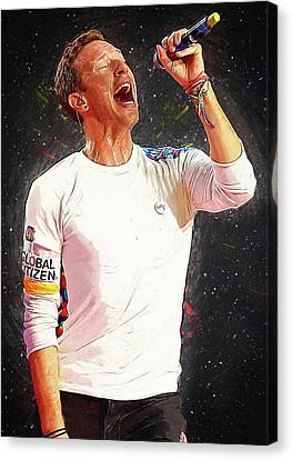 Chris Martin - Coldplay Canvas Print by Semih Yurdabak