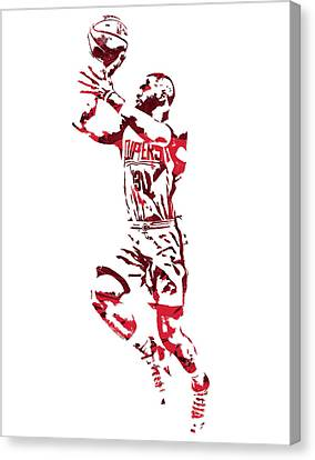 Los Angeles Clippers Canvas Print - Chris Paul Los Angeles Clippers Pixel Art 8 by Joe Hamilton