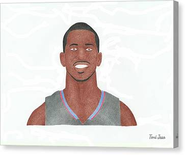 Chris Paul Canvas Print by Toni Jaso