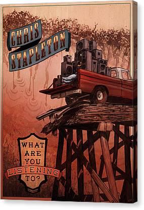Chris Stapleton Poster Canvas Print
