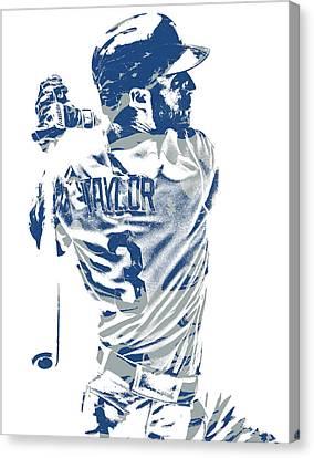 Cities Canvas Print - Chris Taylor Los Angeles Dodgers Pixel Art 5 by Joe Hamilton