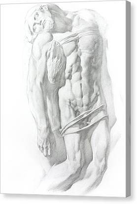 Canvas Print featuring the drawing Christ 1 by Valeriy Mavlo