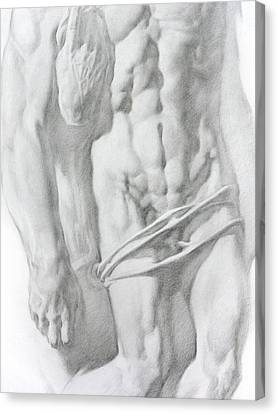 Canvas Print featuring the drawing Christ 1b by Valeriy Mavlo