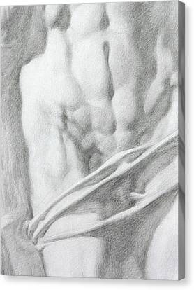 Canvas Print featuring the drawing Christ 1c by Valeriy Mavlo