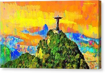 Olympic Canvas Print - Christ Above All In Rio 2 - Pa by Leonardo Digenio