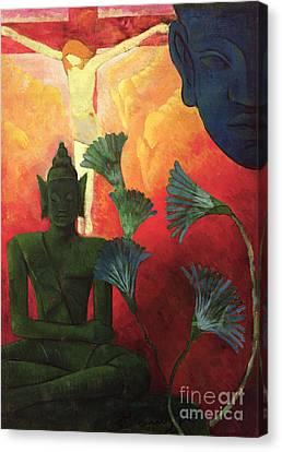 1890 Canvas Print - Christ And Buddha by Paul Ranson