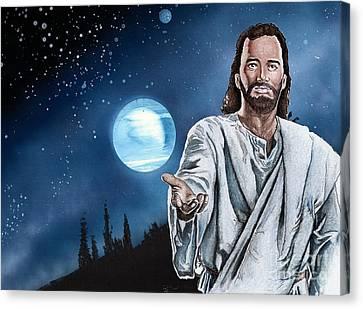 Christ At Night Canvas Print by Bill Richards