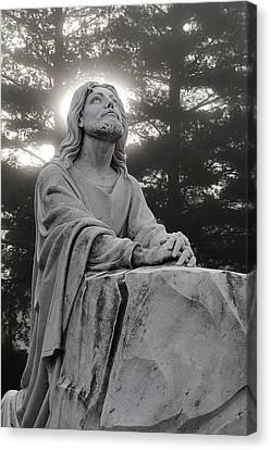 Christ At Prayer Canvas Print by Robert  Suits Jr