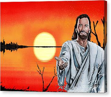 Christ At Sunrise Canvas Print by Bill Richards
