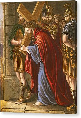 Christ Bearing The Cross Canvas Print by English School
