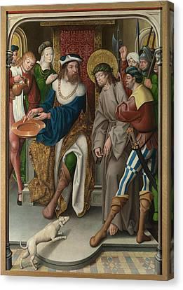 Christ Before Pilate Canvas Print by Master of Cappenberg Jan Baegert
