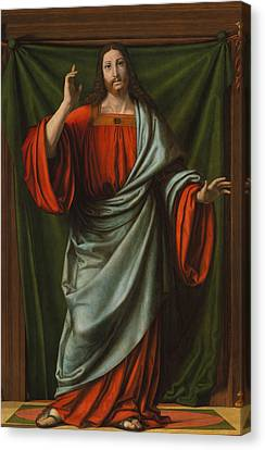 Christ Blessing Canvas Print by Andrea Solario