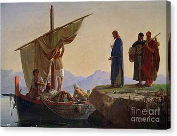 Christ Calling The Apostles James And John Canvas Print