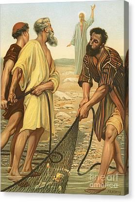 Christ Calling The Disciples Canvas Print by Philip Richard Morris
