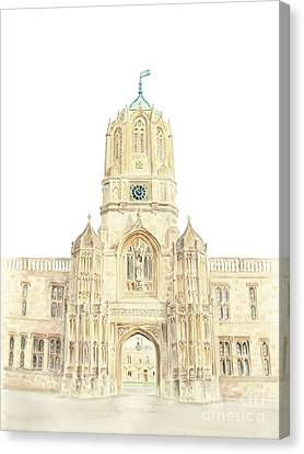 Canvas Print featuring the painting Christ Church by Elizabeth Lock