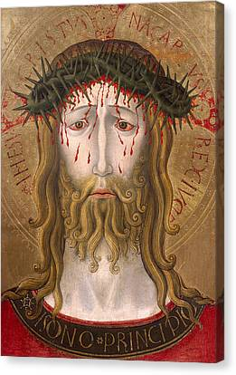 Christ Crowned With Thorns  Canvas Print by Benedetto Bonfigli