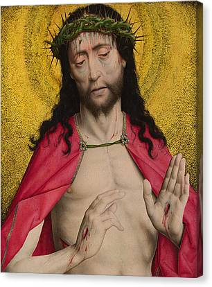 Jesus Christ Icon Canvas Print - Christ Crowned With Thorns by Dirck Bouts