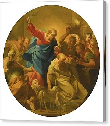 Christ Driving The Money Lenders Canvas Print