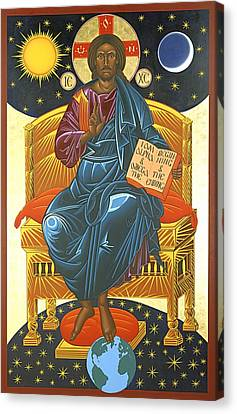Christ Enthroned Icon  Canvas Print by Mark Dukes