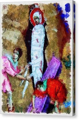 Christ Entombed Canvas Print