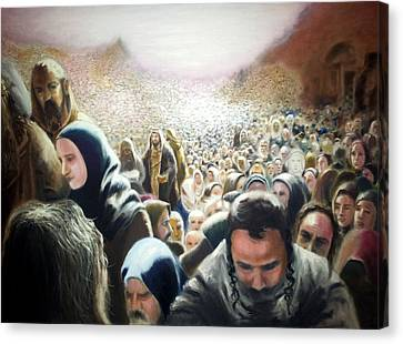 Christ Feeds The Five Thousand Canvas Print by Oliver McParland