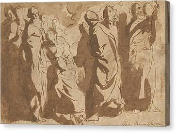 Christ Healing The Paralytic Canvas Print by Jacob Jordaens