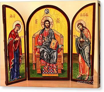 Christ In Majesty Canvas Print by Ryszard Sleczka