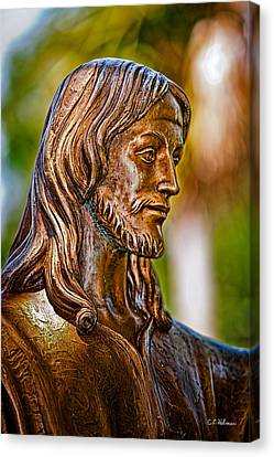 Christ In Bronze Canvas Print