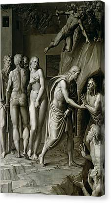Christ In Limbo Canvas Print by Italian School