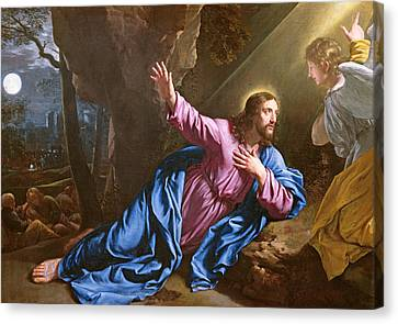 Christ In The Garden Of Olives Canvas Print by Philippe de Champaigne