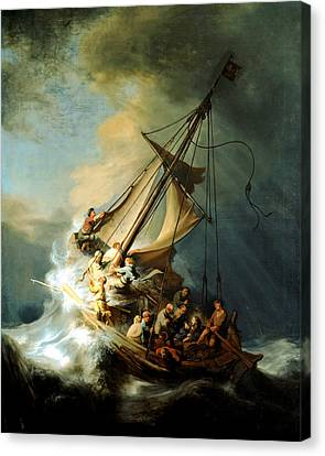 Rembrandt Canvas Print - Christ In The Storm by Rembrandt