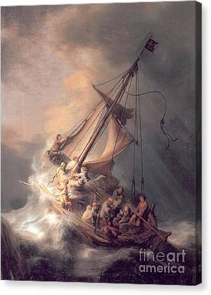 Christ In The Storm Canvas Print
