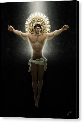 Crucifix Art Canvas Print - Christ Of Free Love by Joaquin Abella