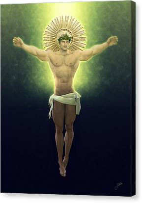 Christ Of Renewable Energy Canvas Print by Joaquin Abella