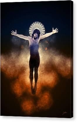 Crucifix Art Canvas Print - Christ Of The Cosmos by Joaquin Abella