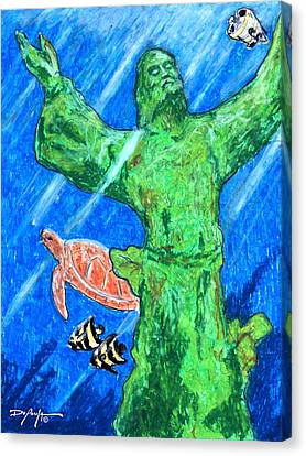 Christ Of The Deep Canvas Print by William Depaula
